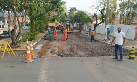 Prefeitura irá refazer trecho de asfalto da avenida Manoel Ribas em Jacarezinho