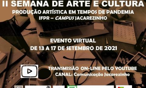 Começa hoje a II Semana de Arte e Cultura de Jacarezinho
