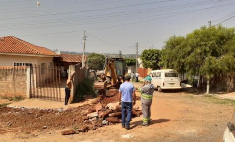 Prefeitura começa trabalhos para asfaltamento do bairro Chácara Maravilha