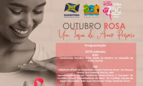 Município divulga programação do Outubro Rosa Guaratuba