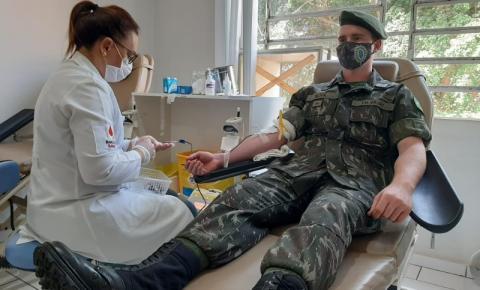 TG 05-007 realiza terceira doação de sangue no ano