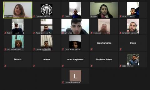 Base do Operário participa de palestra online sobre alimentação e qualidade de vida