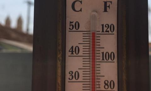 Termômetro chega aos 50ºC no sol em Jacarezinho