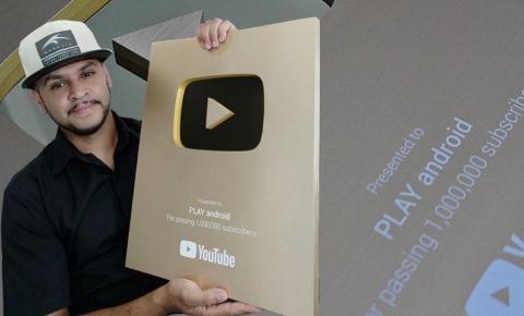 Youtuber de Ibaiti completa 1 milhão de inscritos em seu canal e recebe prêmio ouro para criadores de conteúdo