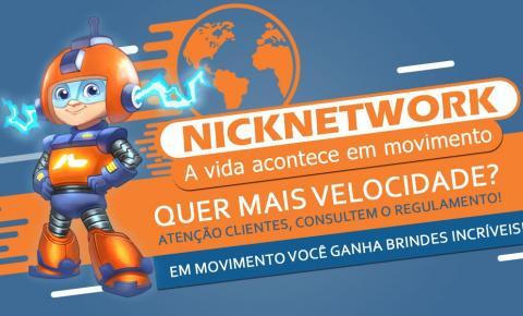Nick network realiza promoção com upgrade de velocidade na internet