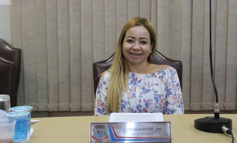 Patrícia Martoni solicita informações sobre obra paralisada