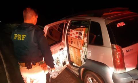 PRF apreende veículo carregado de cigarros contrabandeados em Santo Antônio da Platina