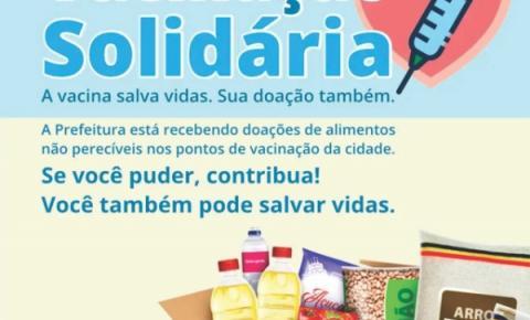 Campanha Vacinação Solidária arrecada alimentos em Jacarezinho
