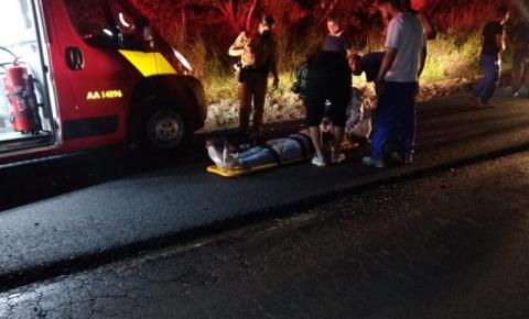 Casal fica ferido após queda de moto na estrada da Platina