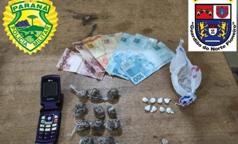 Drogas são apreendidas em Santo Antônio da Platina e moto furtada é recuperada em Joaquim Távora