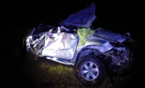 Capotamento mata quatro jovens na PR-090