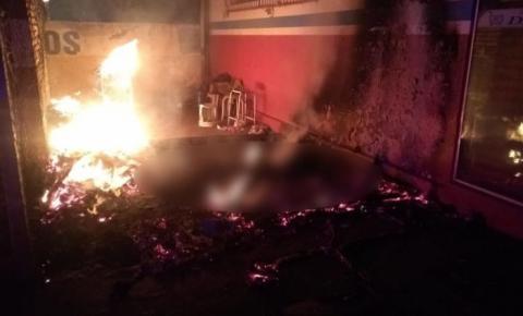 Morador de rua morre carbonizado em Santo Antônio da Platina