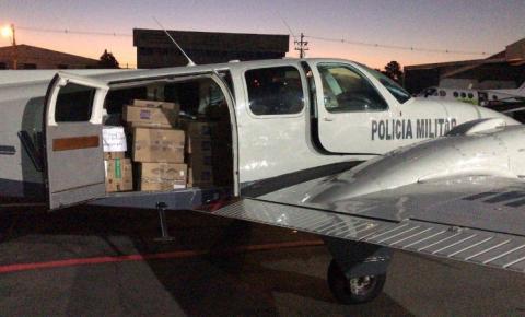 Batalhão da PM de operações aéreas leva vacinas e medicamentos ao Norte e Noroeste