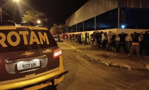 Polícia Militar dispersa aglomeração no distrito do Campinho em Ibaiti