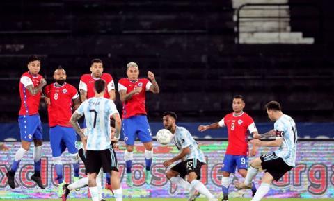 Copa América: Argentina e Chile empatam em 1 a 1 no Rio de Janeiro