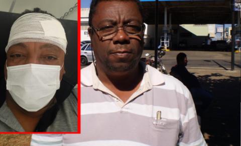 Motorista de táxi tem carro roubado, é feito refém, leva coronhadas na cabeça e tem perna quebrada por bandidos