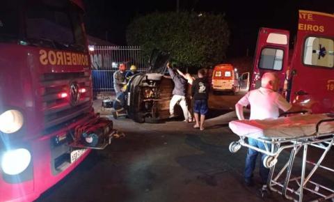 Ambulância do SAMU se envolve em grave acidente em Jacarezinho