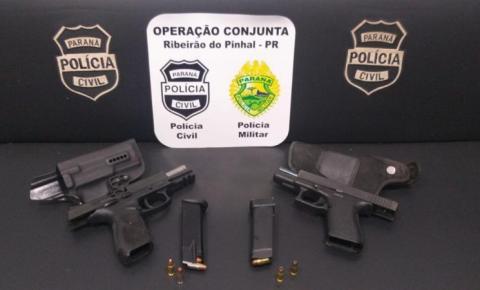 Ação conjunta apreende armas em Abatiá