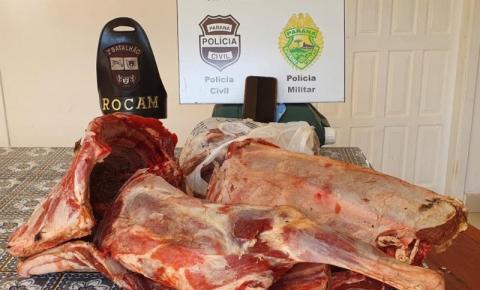 Operação conjunta apreende adolescentes, droga e carne furtada