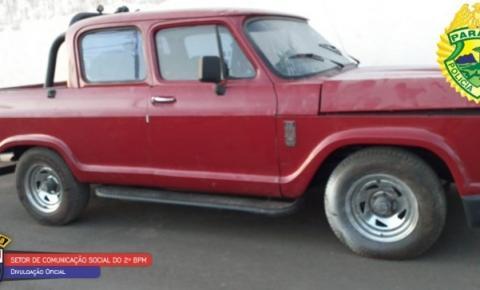 PM apreende em Carlópolis caminhonete roubada em SP