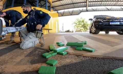 PRF em ação conjunta com a PMPR apreende mais de 1 tonelada de maconha em Santa Mariana (PR)
