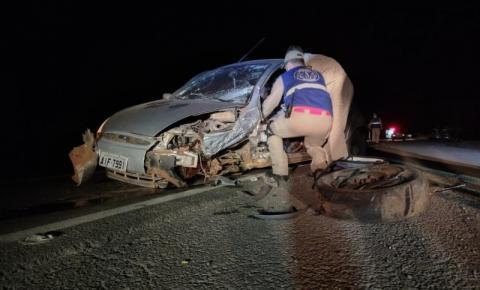 Motorista com sinais de embriaguez provoca acidente na BR-153