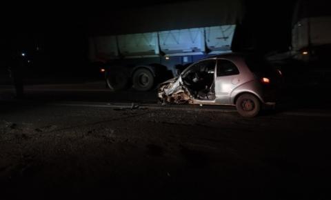 Motorista que provocou acidente na BR-153 é preso por embriaguez ao volante