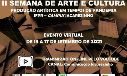 II Semana de Arte e Cultura de Jacarezinho divulga programação