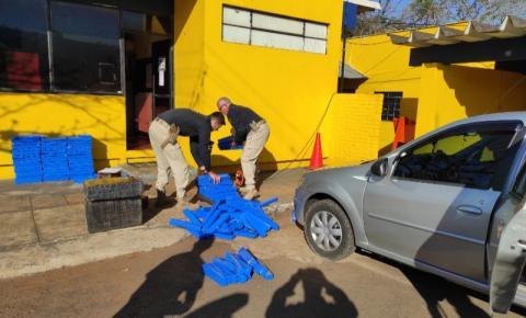 PRF apreende mais de meia tonelada de maconha em Santo Antônio da Platina