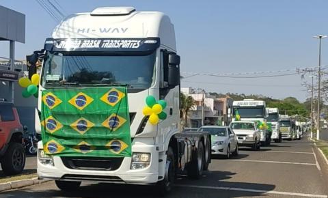 Carreata de apoio ao presidente Jair Bolsonaro marca 7 de setembro em Jacarezinho